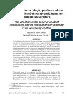 Artigo - A Afetividade Na Relação Professor-Aluno