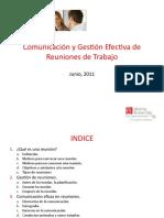 comunicacinygestinefectivadereunionesdetrabajo-131212173418-phpapp01