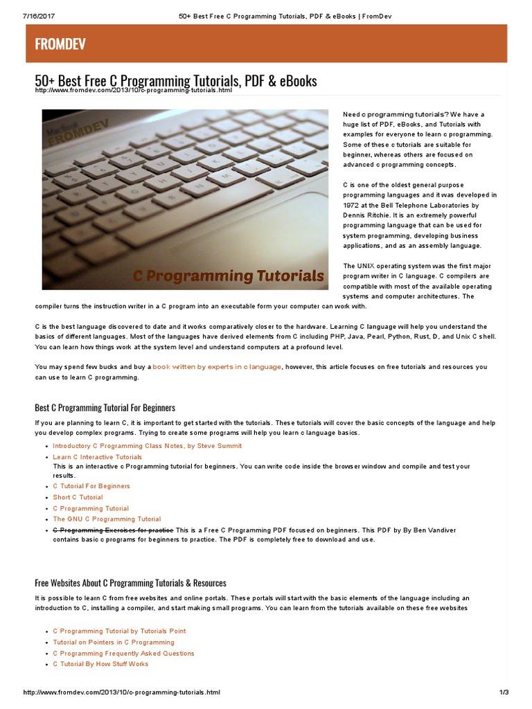 Computer Programming Languages For Beginners Pdf | Sante Blog