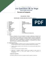 Silabo Seminario Investigacion IV Doctorado en Psicologia