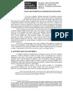 Aula 01 – as Principais Características Literárias de Apocalipse