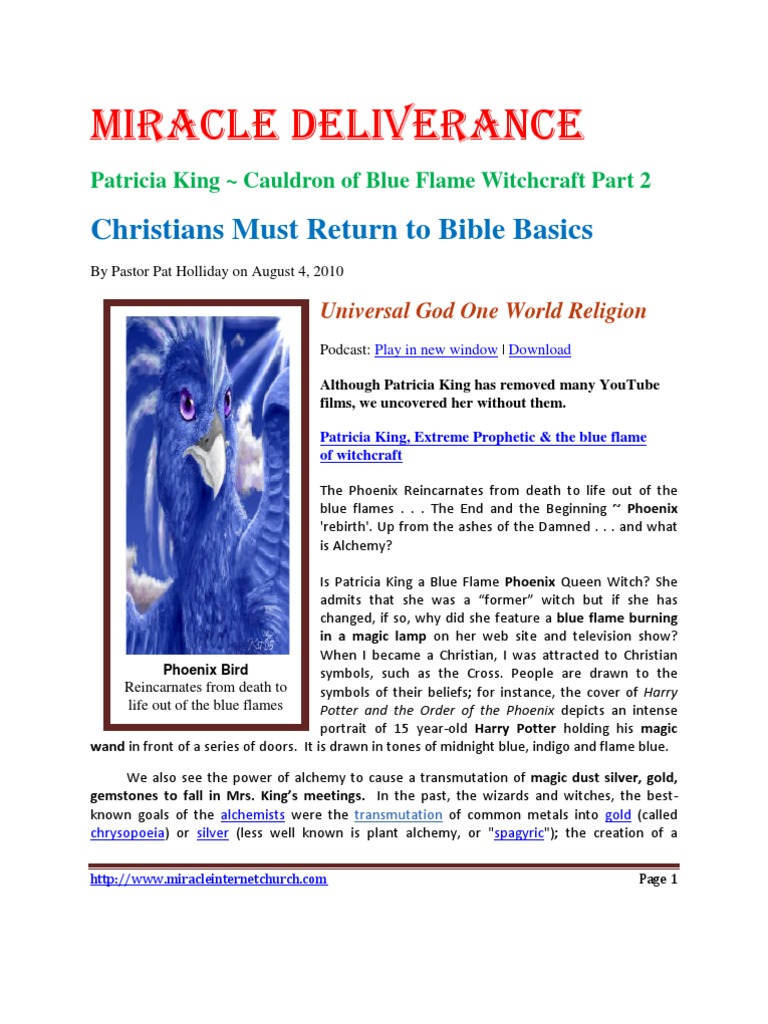 Patricia King Cauldron of Blue Flame Witchcraft Pt 2 docx