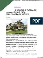 Aprenda a Utilizar a Tabela de Ross-heidecke Para Depreciação de Imóveis
