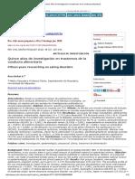 Quince Años de Investigación en Trastornos de La Conducta Alimentaria