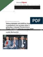 Hrvatska Insajderski Izvjestaj Kako Je u Posljednji Tren Propao Plan o Pokusaju Rusenja Plenkoviceve Vlade i Koje Tri