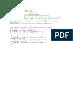 Código Em MatLab - Grashof