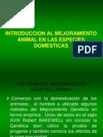 Introduccion y Importancia Mejoramiento animal