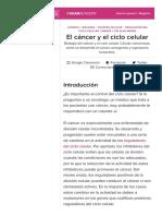 El Cáncer y El Ciclo Celular (Artículo) _ Khan Academy