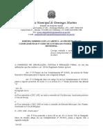 Emendas Aditiva e Modificativa PDM