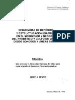 Secuencias de Deposito y Estruturación Diapírica Mesozoico y Neogeno Prebético-Valencia-Lineaas Sismicas