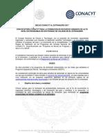 Convocatoria Becas CONACYT Al Extranjero 2017