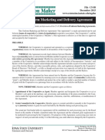 Sample Marketing Delivery Agreement Letter