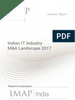 Indian IT Industry - MA Landscape