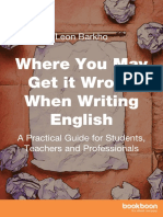 Where You May Get It Wrong When Writing English