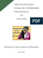 Solucionario guia de admision 2015 UNAN