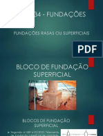 Bloco de Fundação Superficial
