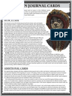 Pathfinder Society Faction Journal Cards - Season 8 - Half Sheet