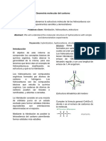 Informe geometría molecular