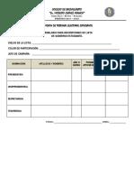 Tribunal Electoral Estuadiantil - Formatos