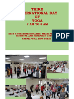Celebration of International Day of Yoga at Dr. B. R. Sur Homoeopathic Medical College, Hospital and Research Centre