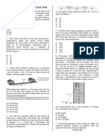1ª Lista de Exercícios de Física I Prof. Kaká Eng. Mecânica