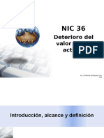 NIC 36 - Deterioro