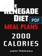 Renegade Diet Meal Plan 2000