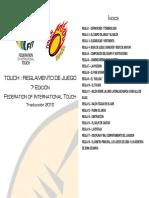 Reglamento Touch Español 2010