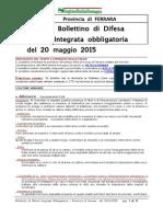 Bollettino Difesa Integrata Obbligatoria Ferrara 20 Mag 2015