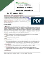 Bollettino Difesa Integrata Obbligatoria Provincia Ferrara 27mag15