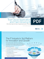 True Cloud Applications for Agile and Fast Growing Businesses Sept 2015