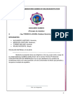 Informe 01 Quimico Equilibro-chatelier