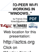 Peer to Peer Wi-Fi networking in windows by Francis Chao