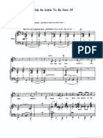 With So Little to Be Sure Of Sheet Music