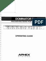 Aphex Dominator II Operating Guide