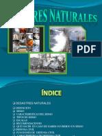 diapositiva sobre desastres naturales