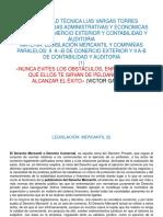 Materia de Legislacion Mercantil y CIA.