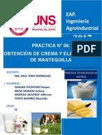 6- Obtencion de Crema y Elaboracion de Mantequilla