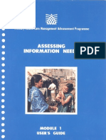 Module 1 Assessing Information Needs (User's Guide)