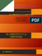 EL OBJETIVO Y LA HIPOTESIS