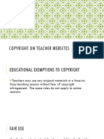 m  rucker copyright on teacher websites