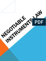 Negotiable Instruments Law Day 1 for Students