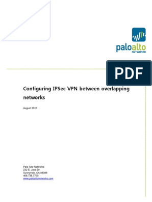 Configuring Route Based IPSec With Overlapping Networks   Ip