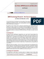 Class Notes BPM Research and Education B