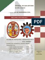 INFORME N°4 - DENSIDAD DE SUELO