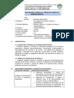 Silabo Modular de Materias Primas en Productos Carnicos e Hidrobiológocos