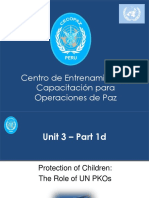 Unit 3 - Part 1d Protection of Children the Role of UN PKOs