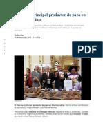 Perú Es El Principal Productor de Papa en América Latina