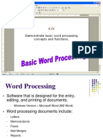 Word 2010 - Demonstrate Basic Word Processing