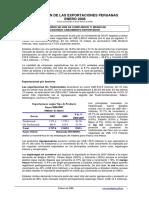 Evolucion de Exportaciones Peruanas en El Año 2008